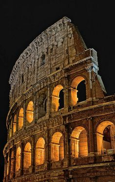 The Colosseum, Rome, Italy. #travel  Been there, it's amazing!!! Would love to go back!