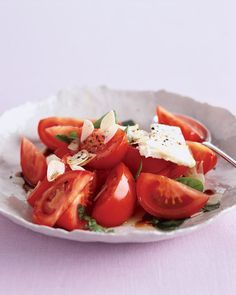 Roma Tomato Salad with Feta and Garlic, Wholeliving.com