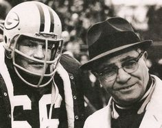 Ray Nitschke and Vince Lombardi.