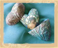 beautiful polymer clay heart capsule