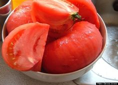 Peeling a Tomato: When making a fresh tomato sauce, you know you'll have to deal with the chore of peeling the skin off. The microwave can make that just a bit easier. Pop them in for 30 seconds (let rest for two minutes) and the tomato skin will slip off easily - Kitchen Daily