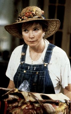 Ouiser - Because I'm an old Southern woman and we're supposed to wear funny looking hats and ugly clothes and grow vegetables in the dirt. Don't ask me those questions. I don't know why, I don't make the rules!~~ I LOVE HER!!!
