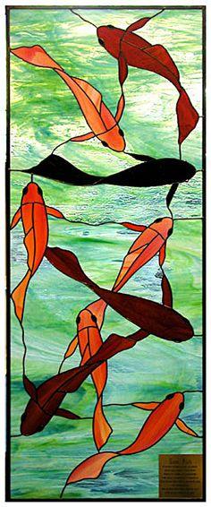 red, orange and black fish