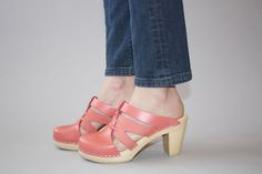 Maguba Paris clog in peach    pinned from Lambs Ear shoes