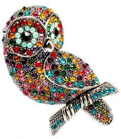 colorful owl brooch <3