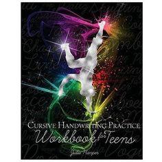 NEW Cursive Handwriting Practice Workbook for Teens - Harper, Julie