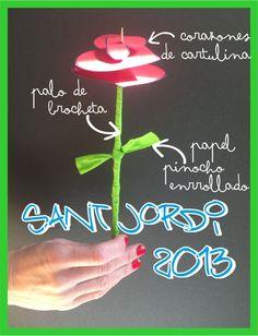 Rosa de petons (Cors de cartolina)