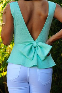 mint bow top