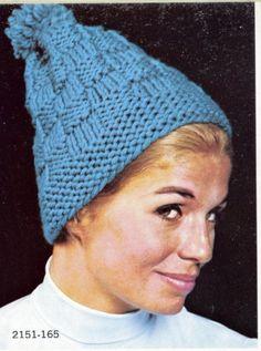 Knit Basketweave Hat Pattern by suerock on Etsy, $3.99
