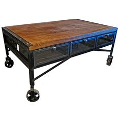 Industrial Iron Coffee Table