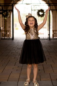 girls gold sequin dr
