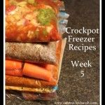 Freezer Crockpot Meals – Prepare a Week of Meals in 1 hour
