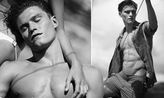 EXCLUSIVE: Pixie Lott is one lucky lady! Oliver Cheshire showcases his incredible torso as he strips off for new swimwear campaign