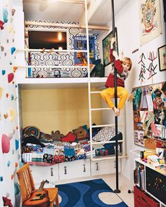 A kids dream room. I don't know of ANY kid that would turn this down...
