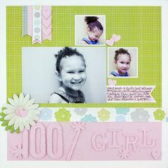 100% Girl Enchanted #Scrapbooking Layout from Creative Memories    www.creativememor...