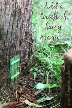 Add a touch of fairy magic to your garden with this DIY fairy door