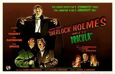 Sherlock Holmes Meets Dracula movie poster by PaulBaack.deviantart.com on @deviantART