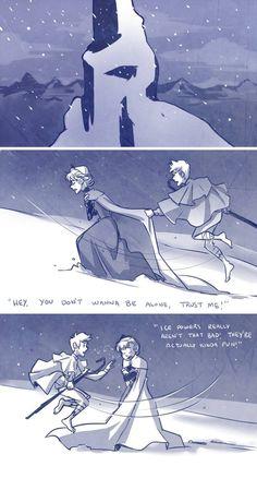 Part 1 Queen Elsa and Jack Frost