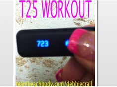 This was my calorie burn after T25! Get it here: teambeachbody.com/debbiecrall