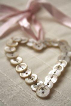 heart button ornament
