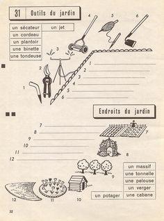 les outils de jardin