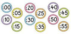 math, polka dots, printable clock numbers, teacher freebies, classroom polka dot freebie, clocks, cards, teachers, clock label