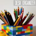 Lego Desk Organizer - fun project & a cute gift for any lego lover