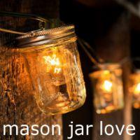 mason jar lanterns and lights