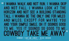 cowboy take me away.