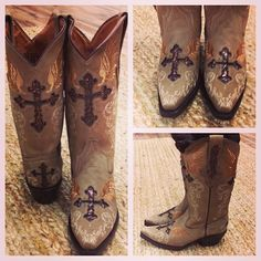 Want! Cross cowgirl boots