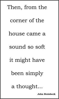...Steinbeck.