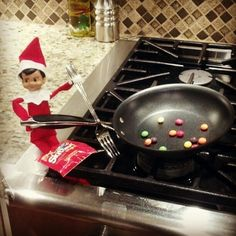Making skittles for breakfast