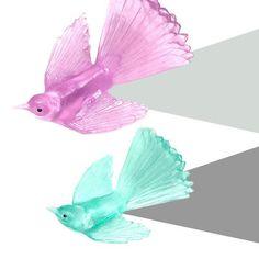 Charming Glass Bird Keepsakes