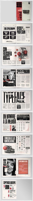 Breviario Magazine / condensed / bold / red