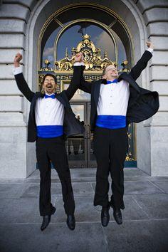 Stuart and John tie the knot at San Francisco City Hall.