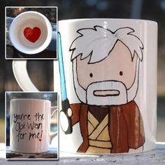geek, obi wan, gift ideas, ceramic mugs, star wars, coffee cups, anniversary gifts, valentine gifts, valentine day gifts