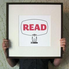 Reading Owl--Cute!