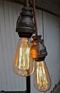 cast iron lamps, fabric cords