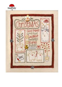Free Pattern::The FIRST CHRISTMAS SAMPLER.