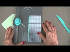"""Envelope Punch Board with better A2 size (paper is 8"""" and score at 3 1/2 """") and how to deal with larger envelopes that hang over the punch board."""