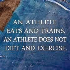 """""""An athlete eats & trains. An athlete does not diet & exercise"""" - Guy Leech #Fitness #Motivation"""