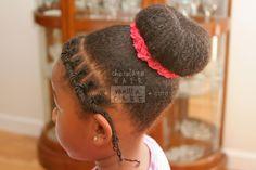 Easy School-Friendly Sock Bun | Chocolate Hair / Vanilla Care