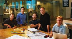 Steve Jobs with his design group