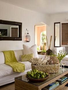 Living room, love the colors.