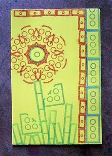 stamping with Legos - genius! lego school ideas, lego stamp, art, ink pads, legos, activ, craft foam, lego craft, kid