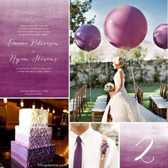 Wedding Theme Inspiration: Ombre Plum Perfection #wedding #inspiration #board