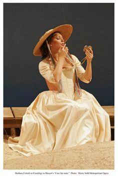 Soprano Barbara Fritolli in Cosi Fan Tutte.