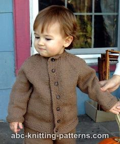 Knitting Patterns Galore - Easy Cable Seamless Child's Cardigan