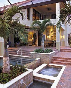 """Gambier Court"" (Plan #6948) - The Sater Design Collection's Mediterranean/European home plan. www.saterdesign.com"