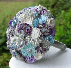 brooch bouquets, dream, color, blue roses bouquet, brooch corsage